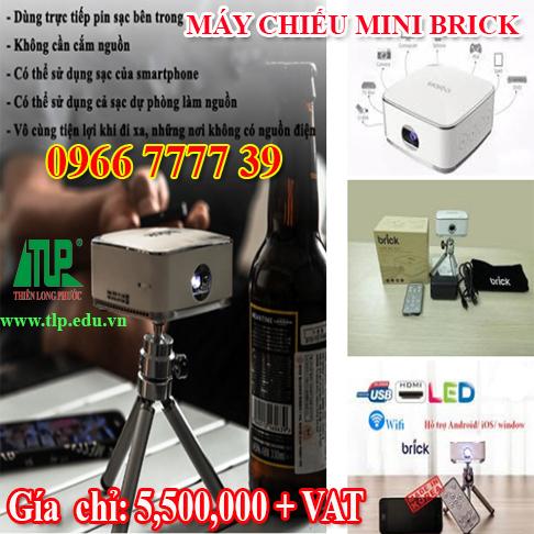 Máy chiếu mini Brick - Siêu nhỏ - Chất lượng hình ảnh sắt nét