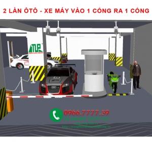 2 LAN OTO-XE MAY VAO 1 CONG RA 1 CONG
