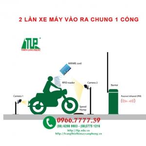 HAI LAN XE MAY VAO RA CHUNG MOT CONG